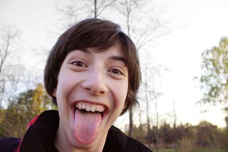 laugher: Curious teen.