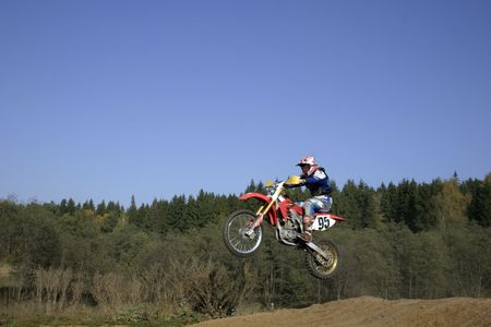 Jump on the course. Stock Photo - 741206
