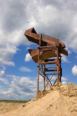 gravel pit: Sand and granite mine industry.