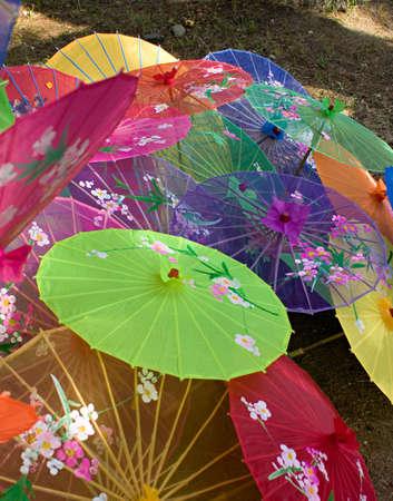 Chinese parasols. photo
