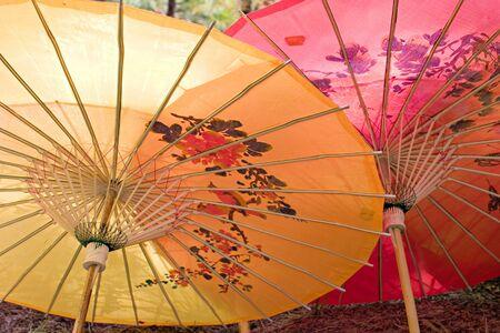 parasol: Chinese parasols.