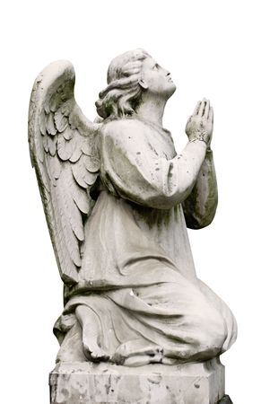 angel cemetery: Statue of an angel in an old cemetery in Moscow. Stock Photo