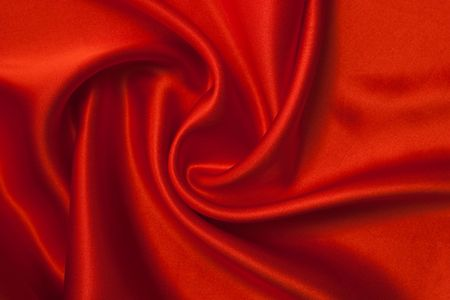 Smooth elegant red silk can use as background. 免版税图像 - 5998912