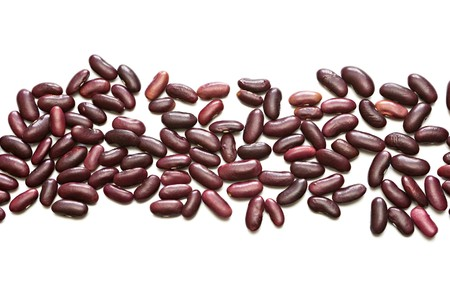 lima beans white beans: Red beans isolated on a white background Stock Photo