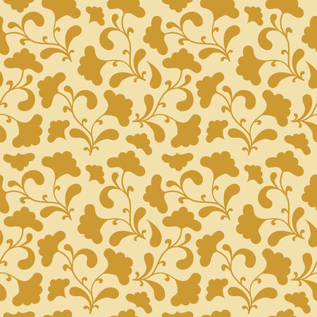 brown seamless background with floral silhouette. Vector