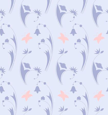 seamless background with stylized floral pattern. Vector