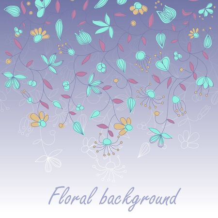 Vector card with floral ornament and place for text. Stock Vector - 10637872