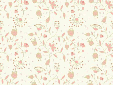 Vecteur pastel sans soudure arrière-plan avec motif floral. Vecteurs