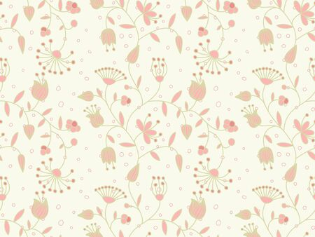 Vector pastel seamless background with floral pattern. Stock Vector - 10637874