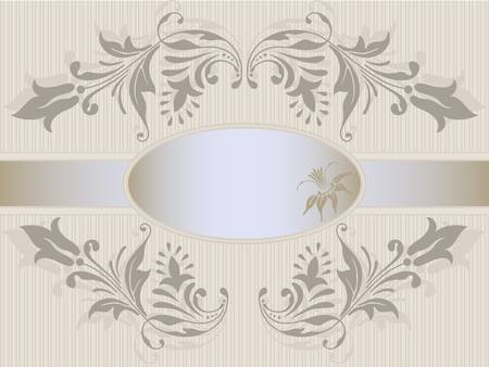 Vector template frame design for greeting card. Stock Vector - 10637863