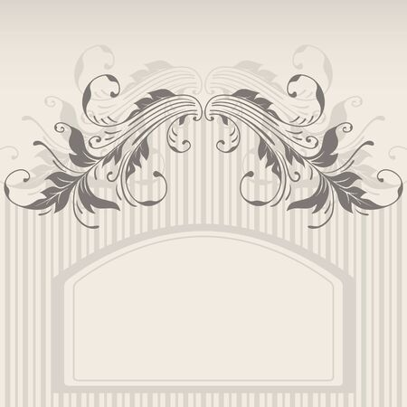 Vector template frame design for greeting card. Stock Vector - 10637860