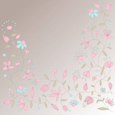 Vector card with floral ornament and place for text. Stock Vector - 10907048
