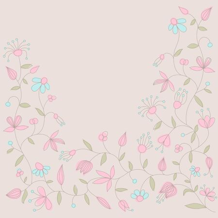 Vector card with floral ornament and place for text. Stock Vector - 11241642