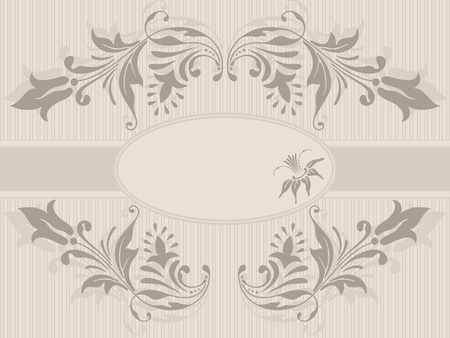 Vector template frame design for greeting card. Stock Vector - 11241640
