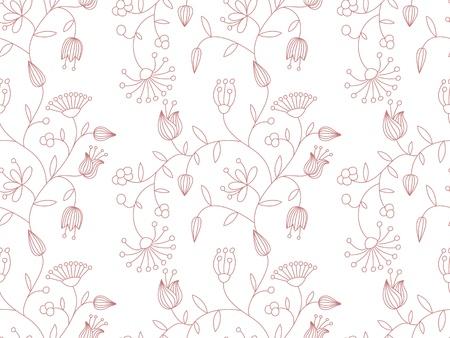 Vector de fondo sin fisuras en colores pastel con motivos florales.