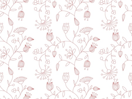 Vector pastel seamless background with floral pattern.  Vector