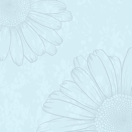 Ilustración vectorial con la flor de tarjetas de felicitación.