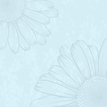Vector illustration with flower for greeting card. Vector