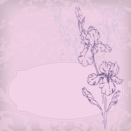 illustration with flower for greeting card. Illustration