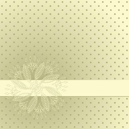needlework: Illustrazione vettoriale con ornamento per biglietto di auguri. Vettoriali