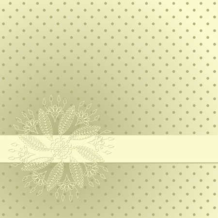 needlework: Vector illustration with ornament for greeting card.
