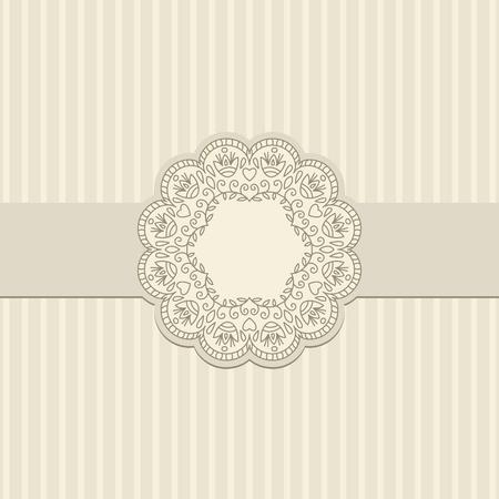 doilies: Ilustraci�n vectorial con el ornamento de la tarjeta de felicitaci�n.