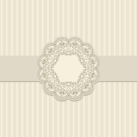 striped: Vector illustration with ornament for greeting card.
