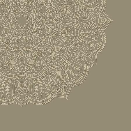 craft paper: Ilustraci�n vectorial con el ornamento de la tarjeta de felicitaci�n.