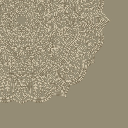Vector illustration with ornament for greeting card.