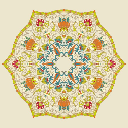 paper craft: ilustraci�n de la vendimia con el ornamento de la impresi�n.