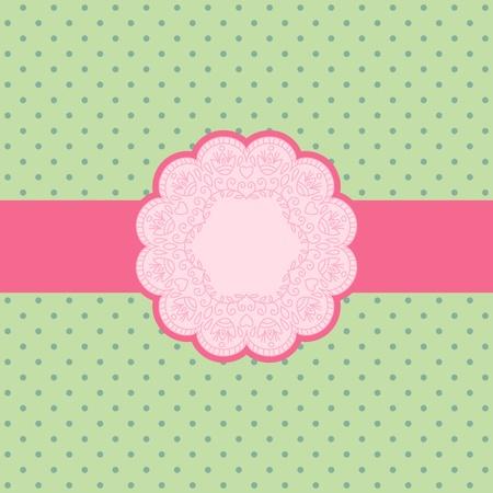 papel artesanal: Ilustraci�n vectorial con el ornamento de la tarjeta de felicitaci�n.