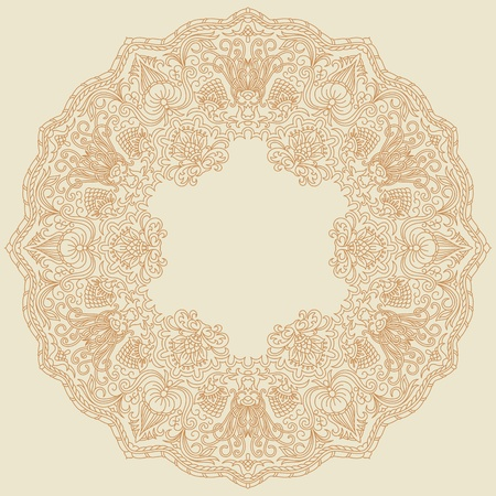 Vector illustration with vintage ornament for print and embroidery. Vector