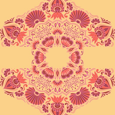 Vector illustration with ornament for greeting card. Vector