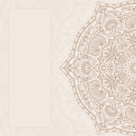 vintage ornamental background with place for text. Vector