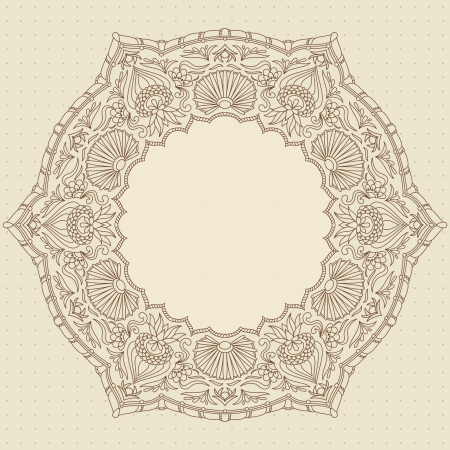 vintage ornamental background with place for text. Stock Vector - 13611161