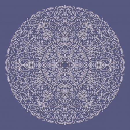 doilies: ilustraci�n con adornos florales para la impresi�n. Vectores