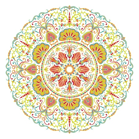 floral ornament for print. Vector