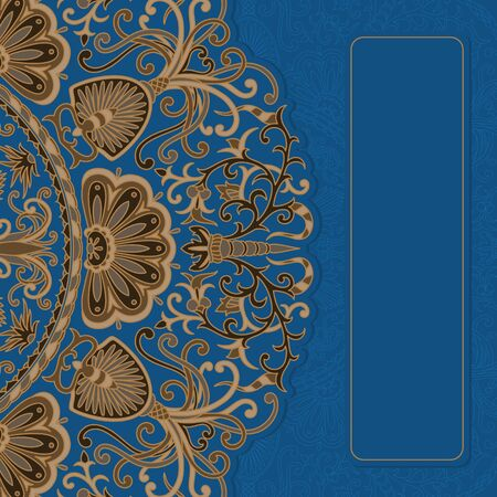 art deco background: Vintage ornamental background with place for text.