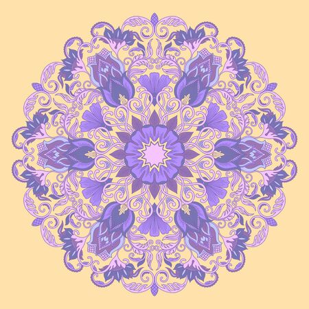 illustration with floral ornament for print  Vector