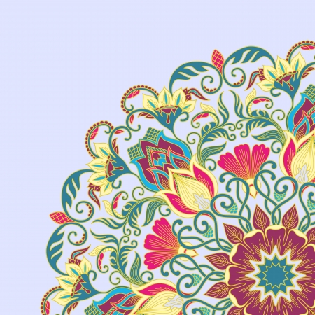 illustration with floral ornament for print