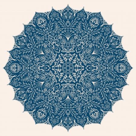 Illustration mit floralen Ornament für Print