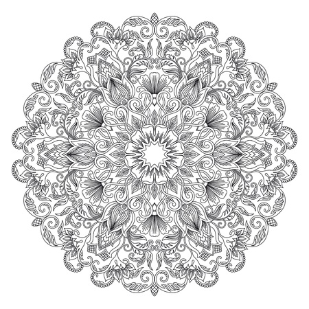 Vector illustration with floral ornament for print.