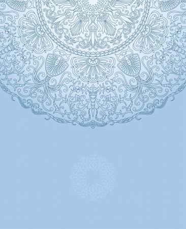 Ilustracji wektorowych z ornamentem roÅ›linnym z miejscem na tekst.