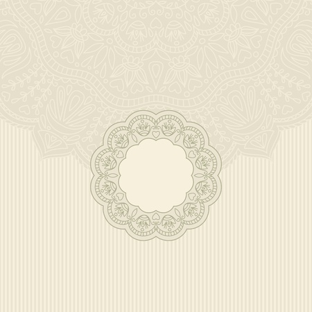 arabesque antique: illustration with ornament for greeting card. Illustration