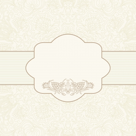 illustration with ornament for greeting card. Vector