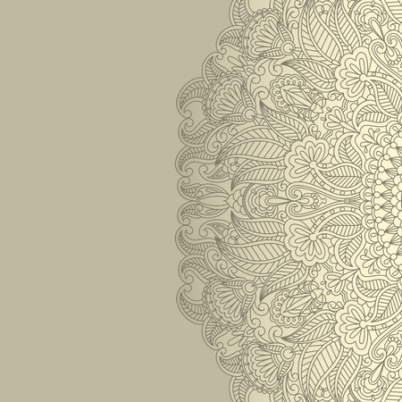 illustration with floral ornament for print. Vector