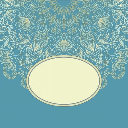 la ilustración con el ornamento de la tarjeta de felicitación.