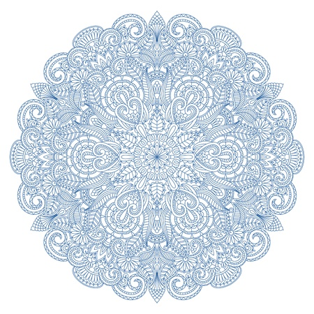 Vector illustration with floral ornament for print. 일러스트