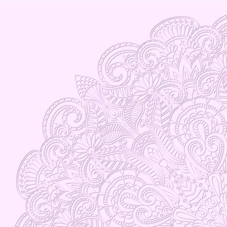 needlework: Illustrazione vettoriale con ornamento floreale per la stampa.