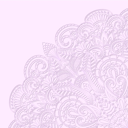 Vector illustration with floral ornament for print. Illustration